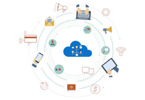 cartoon image of tech ecosystem