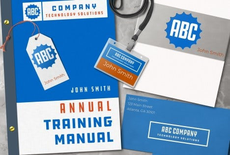 training manual cover books