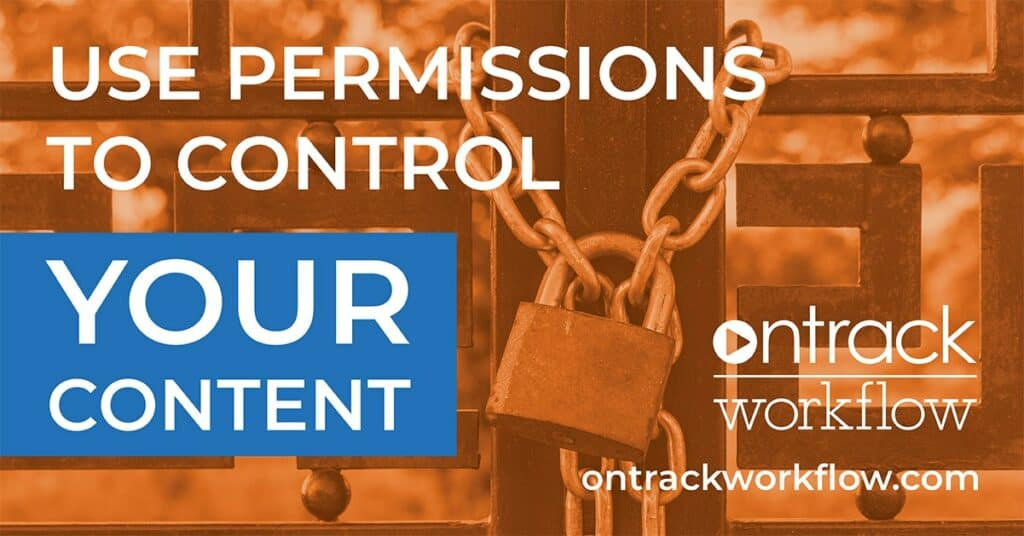 use permissions to control your content