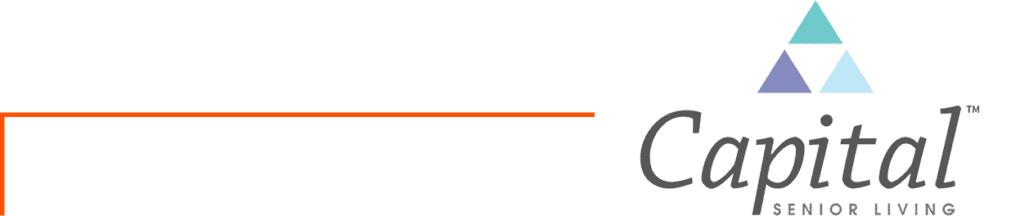 capital senior logo with orange bar
